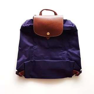 Authentic Long Champ Le Pliage Backpack