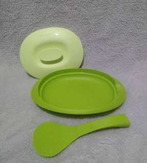 Serving platter+standing spoon