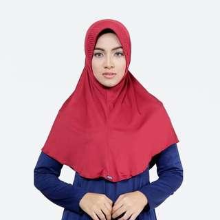 ELZATTA ORIGINAL Hijab Instan Jilbab Bergo Spandex E009-602