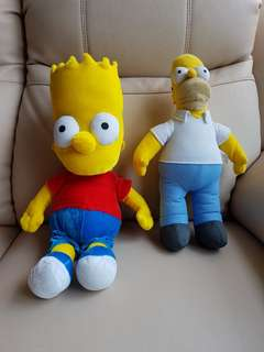 Homer Simpson and Bart Simpson Soft Toys