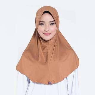 ELZATTA ORIGINAL Hijab Instan Jilbab Bergo Spandex E009-723