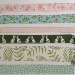 Pink and Green Washi Tape Sample Set