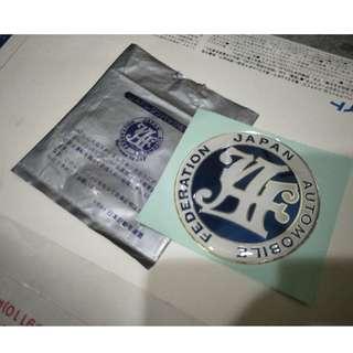 JAF emblem bagde japan JDM evo gsr ae111 gino nismo ae100 ae86