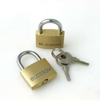 25mm Travel Brass Luggage Padlock Security With 2pcs Of Keys