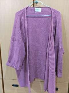 🚚 粉紫色針織開衫外套