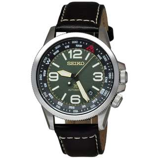 Seiko Prospex SRPA77K1 Green Brown Leather Jam Pria SRPA77 Automatic