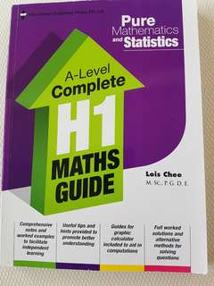 Brand New Pure Mathematics and Statistics A Level Complete H1 Maths Guide