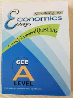 Brand New Challenging Economics Essays GCE A Level Frequently Examined Questions