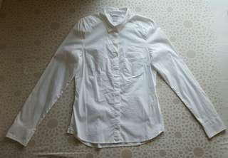 H&M White Longsleeves Polo