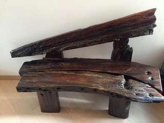 💎全實木船木長椅💎