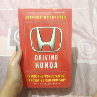 DRIVING HONDA by Jeffrey Rothfeder