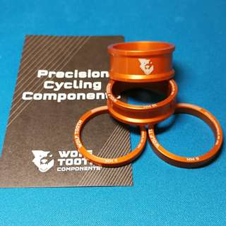 Wolf Tooth Components - Precision Headset Spacers Orange 4pcs SET 🆓Decal