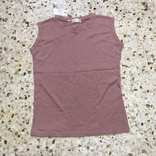DUSTY PINK SLEEVELESS TOP