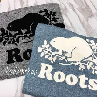 正品特價 🇨🇦 加拿大 Roots T-shirts logo. Tee 白灰 藍 短袖 t恤 男 夏天
