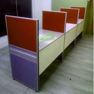 15 SEATER WORKSTATIONS CUBICLES 100X60 TABLE--KHOMI