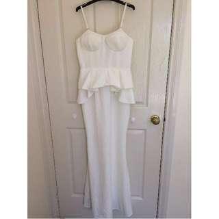 Ivory Evening Dress Size 8