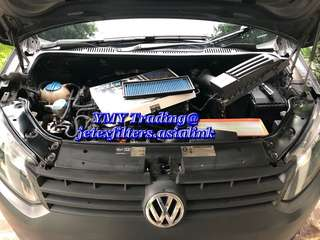 We have a VW caddy 1.6 TDI comes for the upgrade of Jetex High flow performance drop in air filter washable and reusable from its original air filter...