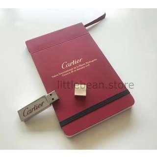 【Cartier】Notebook & USB set