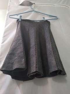 Super cute korean grey circle knit flare skirt