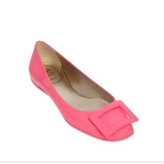 ROGER VIVIER GOMMETTE flats size 35.5 粉紅色平底膠鞋