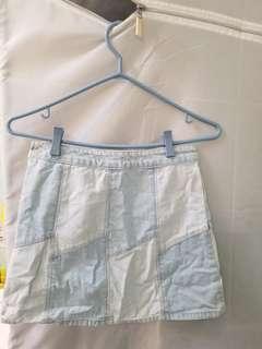 Forever 21 denim patch skirt