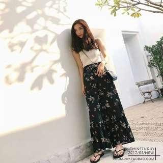 Korean chiffon pants