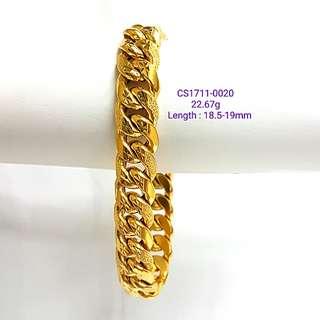 Hollow Gold Bracelet