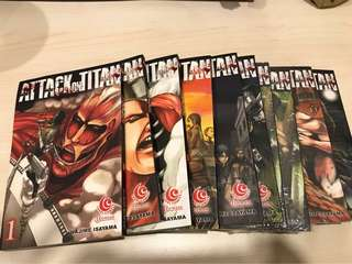 Komik attack on titan 1-7