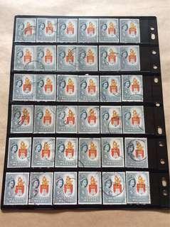 新加坡$5邮票 48Pcs 用过邮票