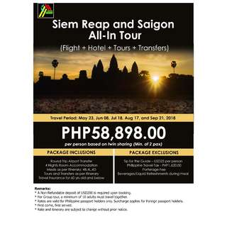 Siem Reap and Saigon All-In Tour