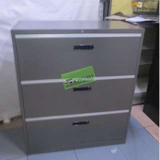3 LAYER LATERAL CABINET DARK GRAY COLOR--KHOMI