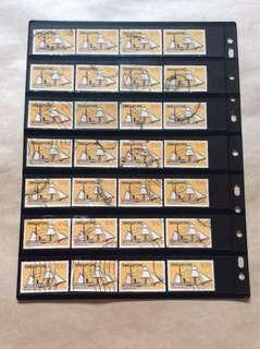 新加坡$10邮票 52Pcs  用过邮票
