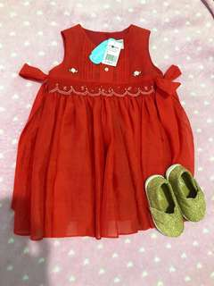 Crib coutoure Dress and juniors shoes bundle deal