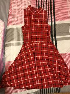 Forever 21 red plaid dress
