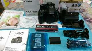 Canon EOS 80D+canon原電雙鏡包腳架組