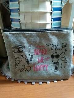 sweatshirt cosmetic pouch