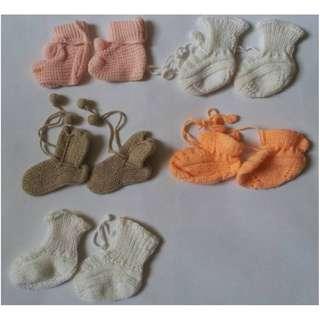 Baby Crochet Cloth, cap, shoes & 3D baby sock