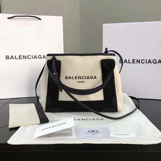 Balenciaga Navy Cabas Bag