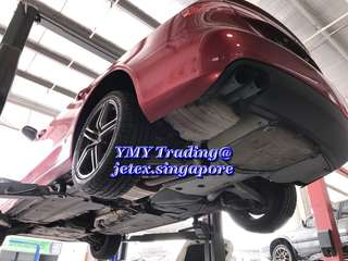 Audi A4 B8 1.8T comes for the upgrade of Jetex LTA approval quad tip catback system #jetexexhaustsasialink