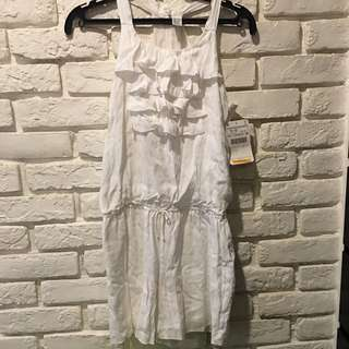 🚚 Zara 白色連身褲裝。152cm