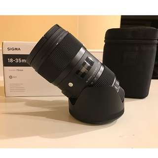 Limited Offer Sigma 18-35mm f/1.8 DC HSM Art Lens Brand new  (Canon and Nikon mount)