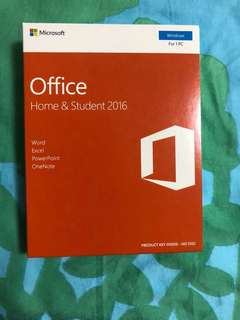 BNIB - Authentic MS Office 2016 Home & Student Edition