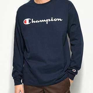 Champion Classic Jersey Script Long Sleeve