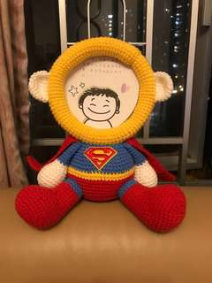 Superman 超人 立體相框 / 相架 冷鈎 鈎織 手作