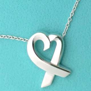 Tiffany&co 經典loving heart 心型項鍊、專櫃真品保證