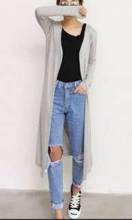 Grey long Cardigan Jacket