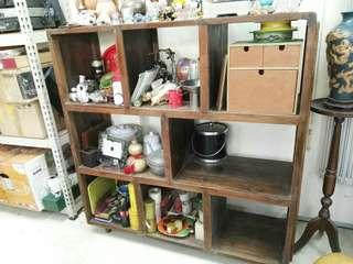 Antique solid wood showcase