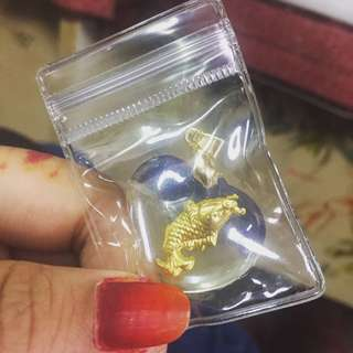 Viral Locket of 999 Thin Gold ( Koi Fish)