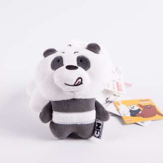 We Bare Bears Soft Toy / Plushie Keychains ( D2 )