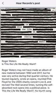 Roger Waters - Is This The Life We Really Want cd